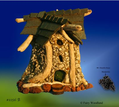 Bramble Village Fairy House #1156B - SOLD in John Crawford originals at Fairy Woodland
